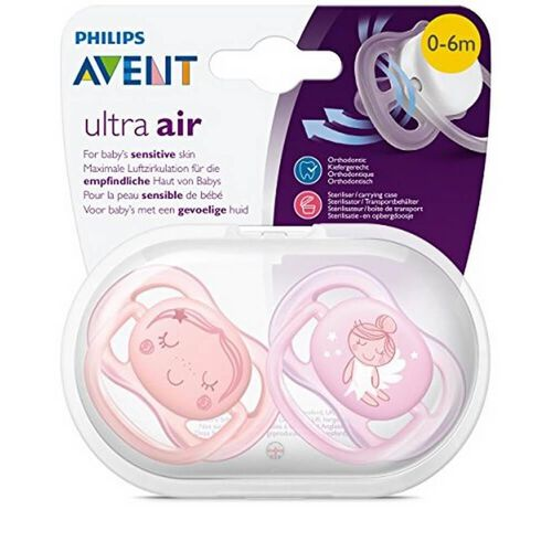 Philips Avent Ultra Air Pacifier Girl Deco 0-6M