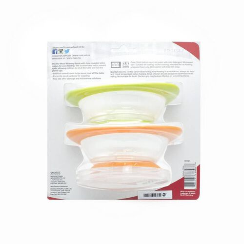 Nuk 2-Pack No-Mess Weaning Bowls